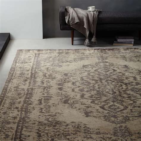 west elm wool rug distressed arabesque wool rug neutral west elm