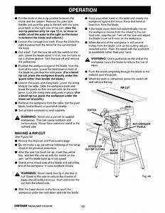 Page 52 Of Sears Saw 315 220100 User Guide