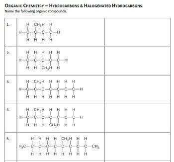 organic compounds worksheet answers newatvs info