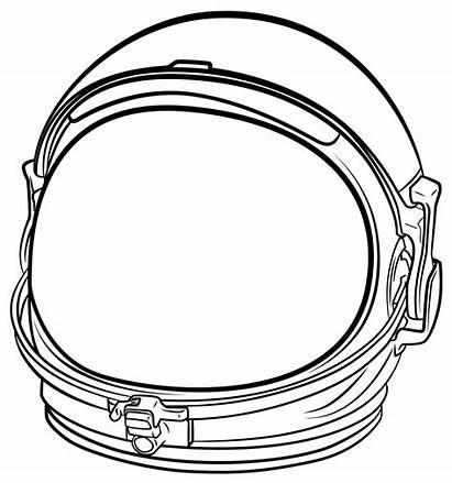 Astronaut Helmet Space Transparent Drawing Clip Line
