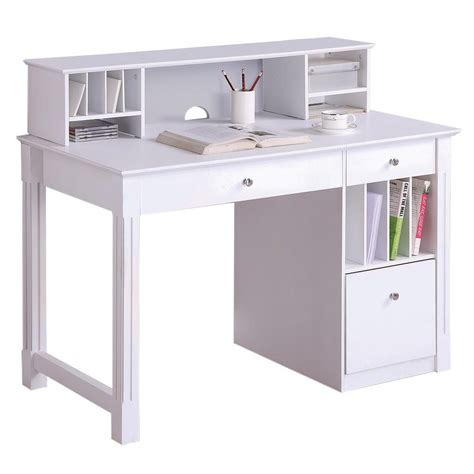 wood table legs home depot walker edison deluxe solid wood desk w hutch white by