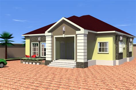 home design exterior app 4 bedroom bungalow 3d cad model grabcad