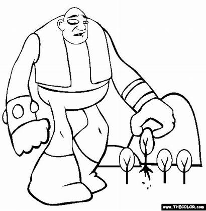 Giant Coloring Pages Colouring Giants Iceland Handprint