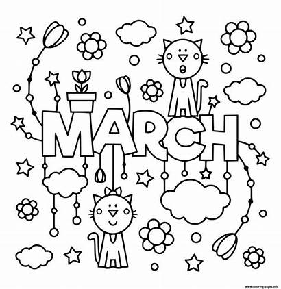 Coloring March Pages Printable Spring Prints