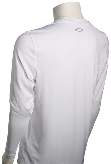 oakley surf ls surf shirt classic white for sale at surfboards com 522722