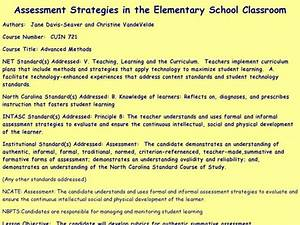 Assessment Strategies In The Elementary School Classroom