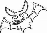 Bat Halloween Template Coloring Cartoon Printable Sheet Templates sketch template