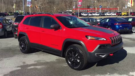 jeep cherokee trailhawk red 2017 jeep cherokee trailhawk youtube