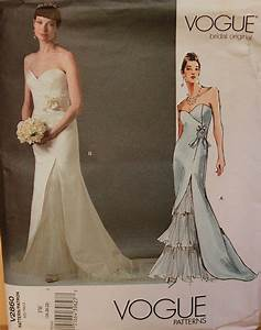 bridal gown evening dress by vogue bridal original pattern With vogue wedding dress patterns