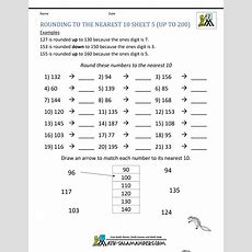 Rounding Worksheets To The Nearest 10