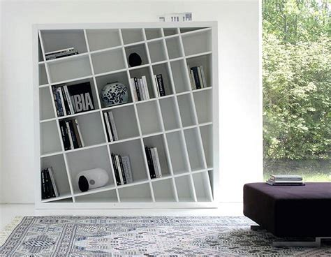 elegant modern bookcase unique design design shelving