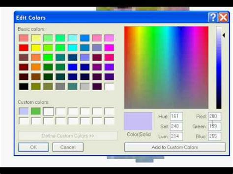 how to make your own colors in ms paint