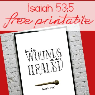 wounds   healed isaiah