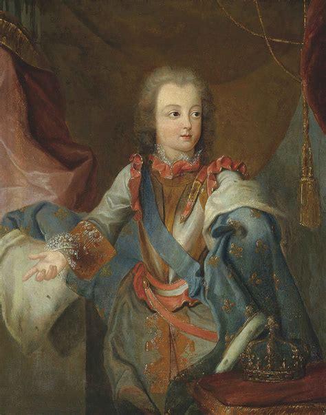 louis xv möbel follower of simon portrait of louis xv 1710 1774 as a boy three quarter length