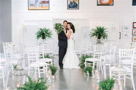 Modern Wedding Inspiration With Lots Of Ferns Green
