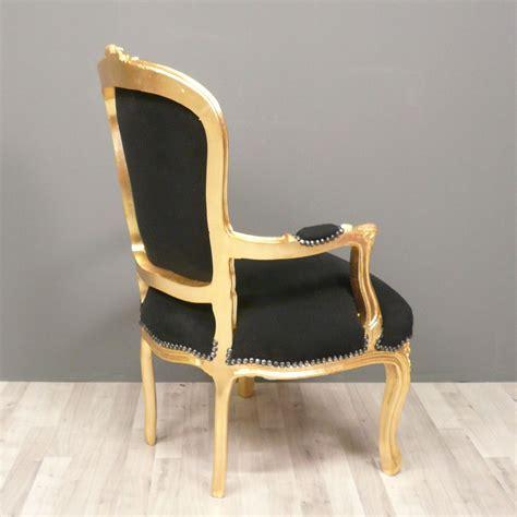 siege louis xv fauteuil louis xv noir et doré fauteuil cabriolet pas cher