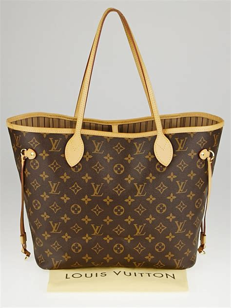 louis vuitton monogram canvas neverfull mm nm bag wo