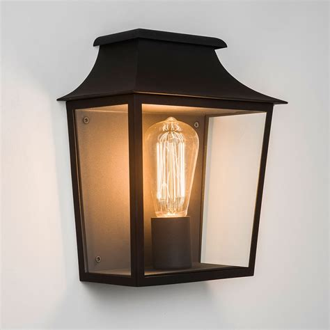 astro richmond 235 black outdoor wall light at uk