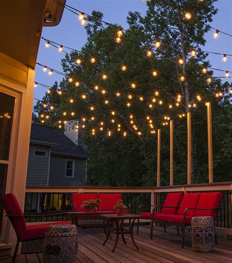 how to string lights outside how to plan and hang patio lights