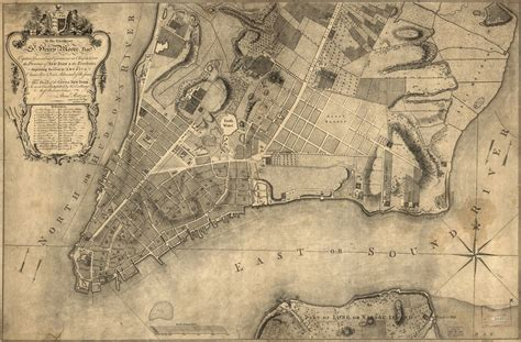 Map Available Online 1700 To 1799 New York City New