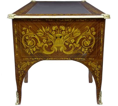 bureau writing desk empire desk marquetry inlay bureau plat writing table