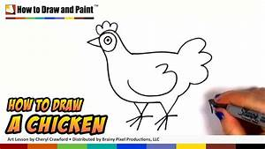 How To Draw A Chicken Step By Step Draw A Cute Hen Easy