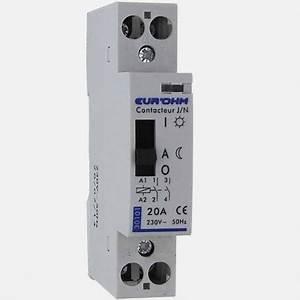 Contacteur Jour Nuit : contacteur jour nuit 20a 230 volts eurohm ~ Dallasstarsshop.com Idées de Décoration