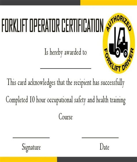 We provide the best forklift training materials in the industry. 15+Forklift Certification Card Template For Training Providers - Template Sumo | Card template ...