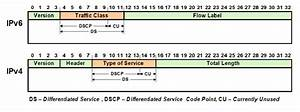 DSCP field in the header of IPv6, and IPv4 packets ...