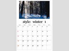 Printable Winter Calendars winter photo calendar