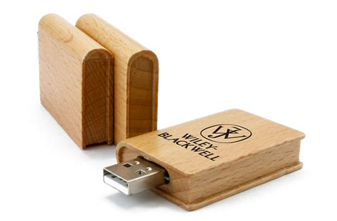 book printed wooden promotional flash drives
