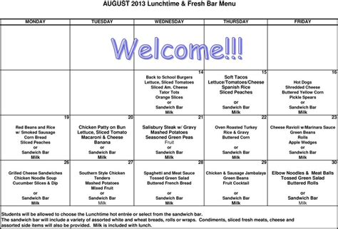 free daycare menus to print 8 best images of printable 392 | e06819461efe20065a94f63c2256440d
