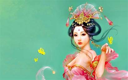 Asian Wallpapers Oriental Fantasy Background Doll Themed