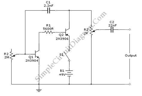 2 transistors signal generator for signal tracing simple circuit diagram