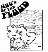 Flood Coloring sketch template