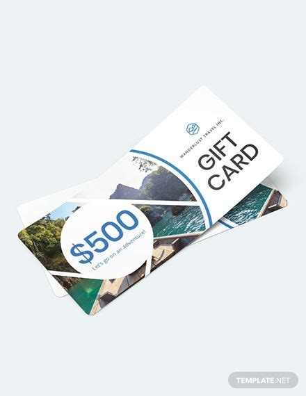 gift card travel voucher template ad sponsored card