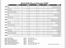 2019 Fiscal Year Calendar Free Printable Templates