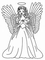 Angel Coloring Pages Christmas Angels Printable Print Printables Colouring Adults Sheets Stitch Anime Tattoo Tree Female Portfolio Laughing Holiday Guardian sketch template