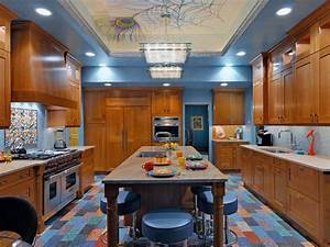 paint ideas for kitchens pictures ideas tips from hgtv With kitchen cabinets lowes with orange and blue wall art
