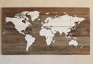 barn wood world map in large size for travelers With what kind of paint to use on kitchen cabinets for diy world map wall art