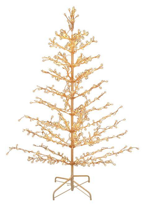 pre lit metal stick tree