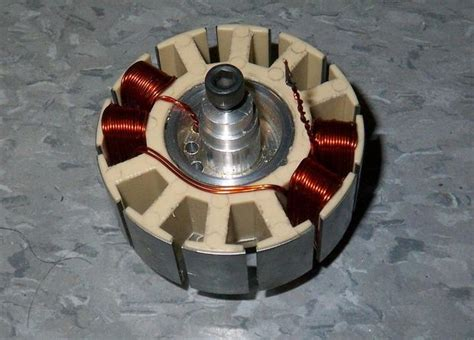 Electric Motor Winding by Make Your Own Miniature Electric Hub Motor 6