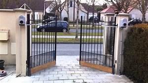 motorisation de portail vers l39exterieur youtube With automatisme portail ouverture exterieure