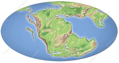 continental drift  million years  stock image