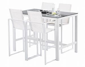 Mange Debout Jardin : bar de jardin design blanc 4 fauteuils haut de gamme ~ Teatrodelosmanantiales.com Idées de Décoration