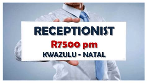 Front Desk Receptionist Salary In South Africa by Available 187 Receptionist R7500pm