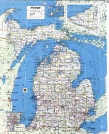 Michigan Map Cities