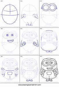 How to Draw Bob from Minions printable step by step ...