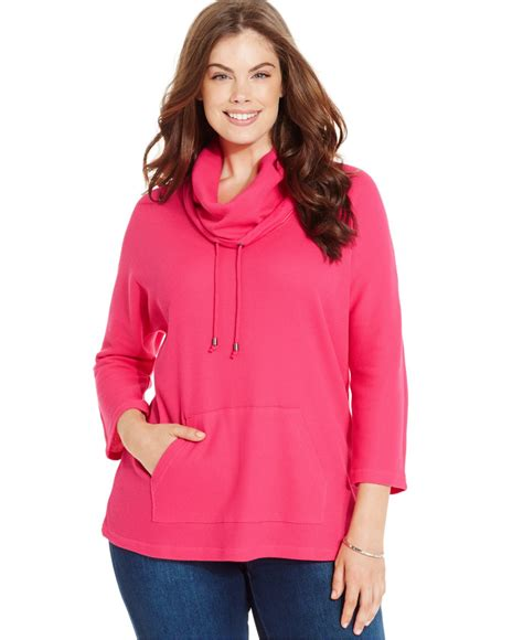 style and co sweaters style co only at macy 39 s in pink lyst