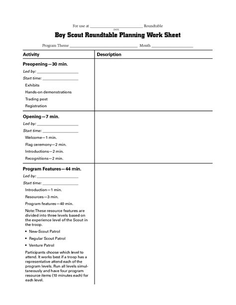 bsa meal planning worksheet my about may2018